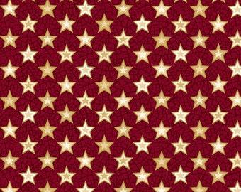 Summer Festival - Red Stars by Henry Glass Fabrics (8206-88)  Fabric Yardage