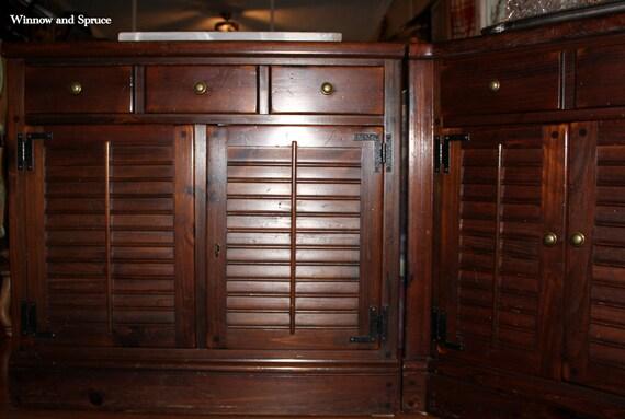 Vintage Ethan Allen 3-Cabinet Corner Unit