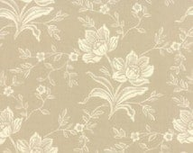 1/2 Yard Moda Somerset Floral Hand Carved Grey by Fig Tree & Co