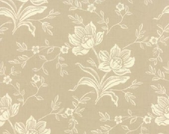 1/2 Yard Moda Somerset Floral Hand Carved Fog by Fig Tree & Co
