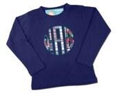 Boy's Shirt with Circle Style Monogram - M6