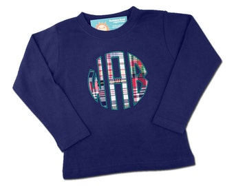 Boy's Shirt with Circle Style Monogram - M6