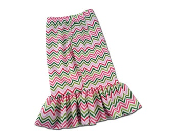 Girl's Chevron Ruffle Pants - F40