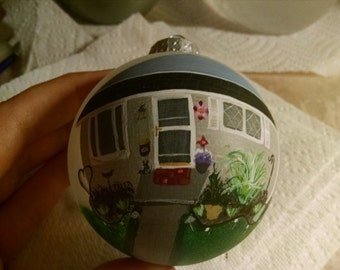 PERSONALIZED House painting on Bulb