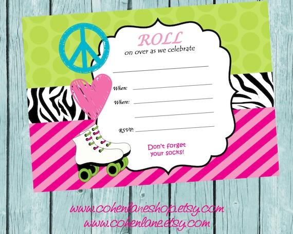 Roller Disco Invitations is great invitations sample