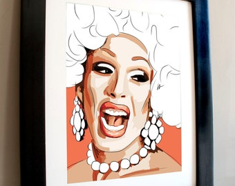 Alaska Thunderfuck, star of Rupaul's Drag Race, A3 portrait