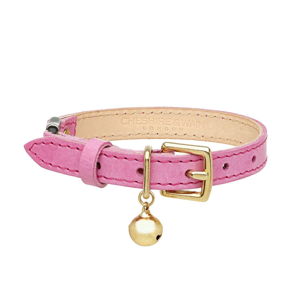 pink leather cat collar with breakaway buckle. Black Bedroom Furniture Sets. Home Design Ideas