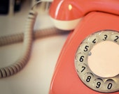 Vintage Phone photograph, 5x5, white mat