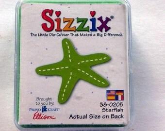 Sizzix Starfish Die Cutter, Card Making Starfish Die, Embellishment Tool, Sizzix Scrapbooking Die, Starfish Die