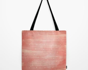 Pink Hearts Tote Bag
