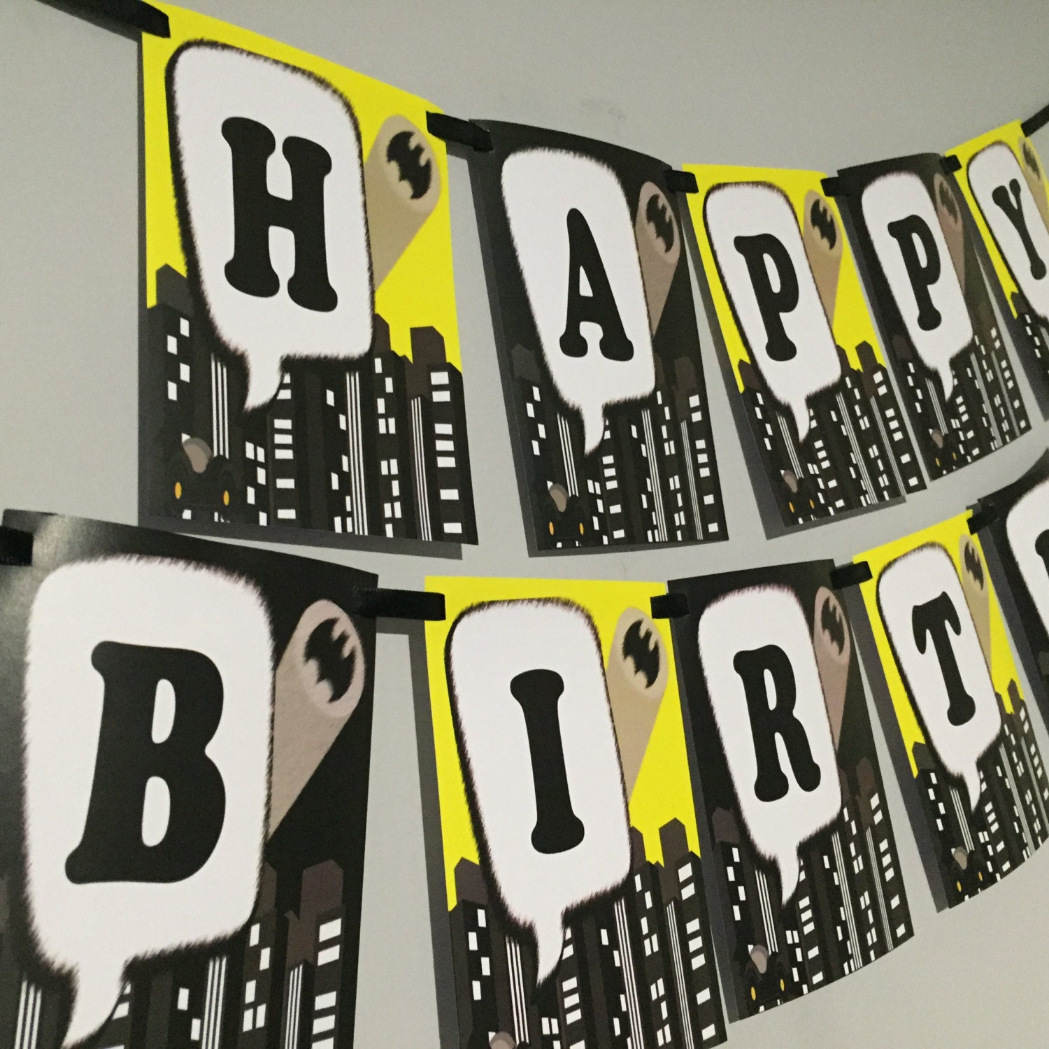 Batman Happy Birthday Banner By Love This Moment