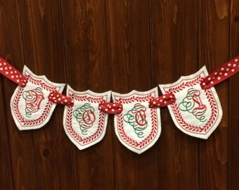 ITH Christmas Banner Embroidery Design,  NOEL, in the hoop, #336