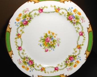 "Shelley Green Dubarry 8"" Plate"