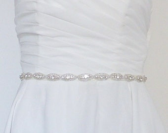 Diva satin and rhinestone Bridal sash