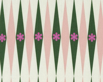 SALE Playful - Backgammonish Green Natural - Melody Miller - Cotton and Steel (0015-2)