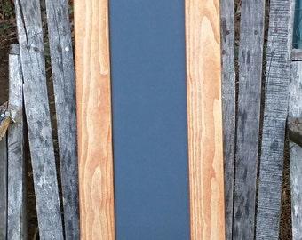 """Rustic chalkboard sign,  Wedding framed chalkbiard, kitchen menu board, Recycled wood frames, Wedding decor, wood sign """" 25 X 10 1/2"""" frame"""