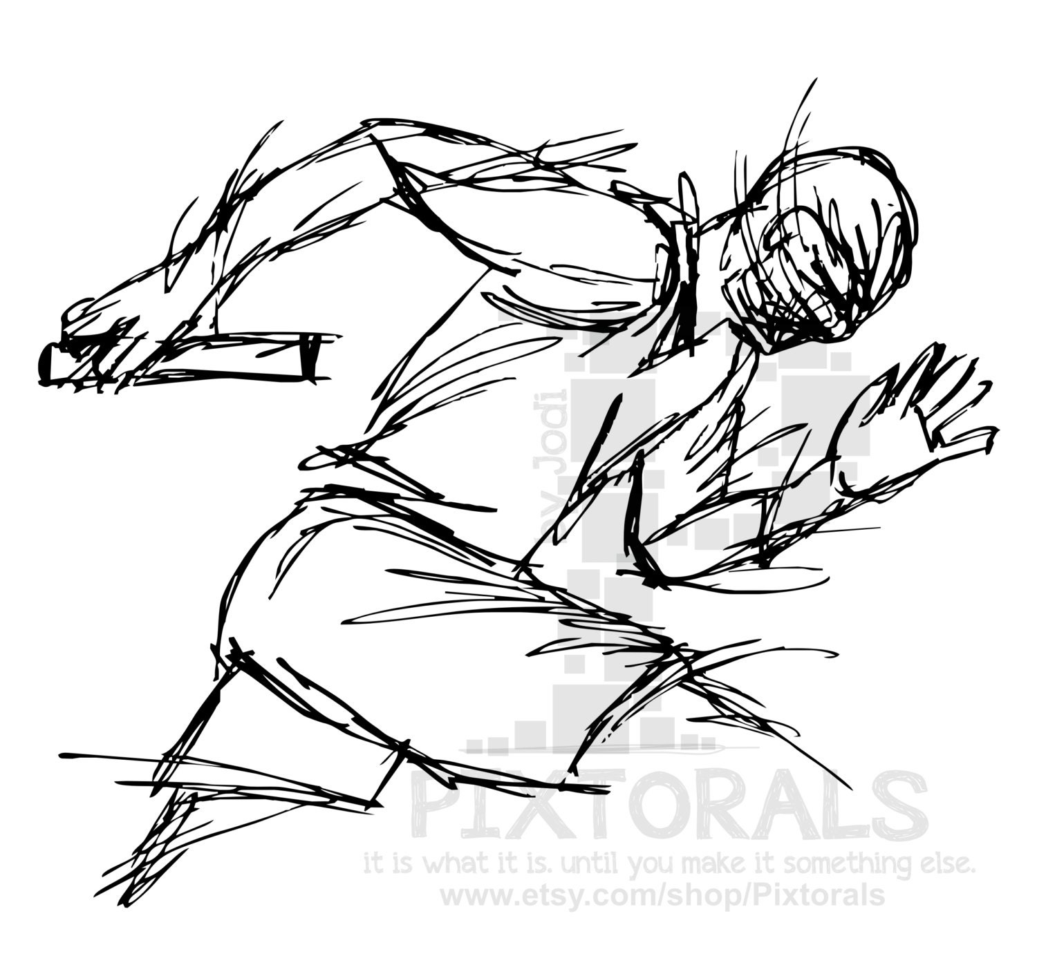 It's just a graphic of Dramatic Track And Field Drawing