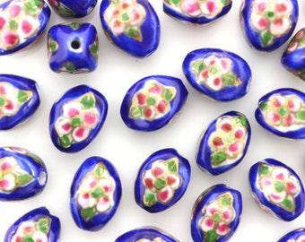 Porcelain Beads,Ceramic Beads,Cloisonne Style Porcelain,#POR090028
