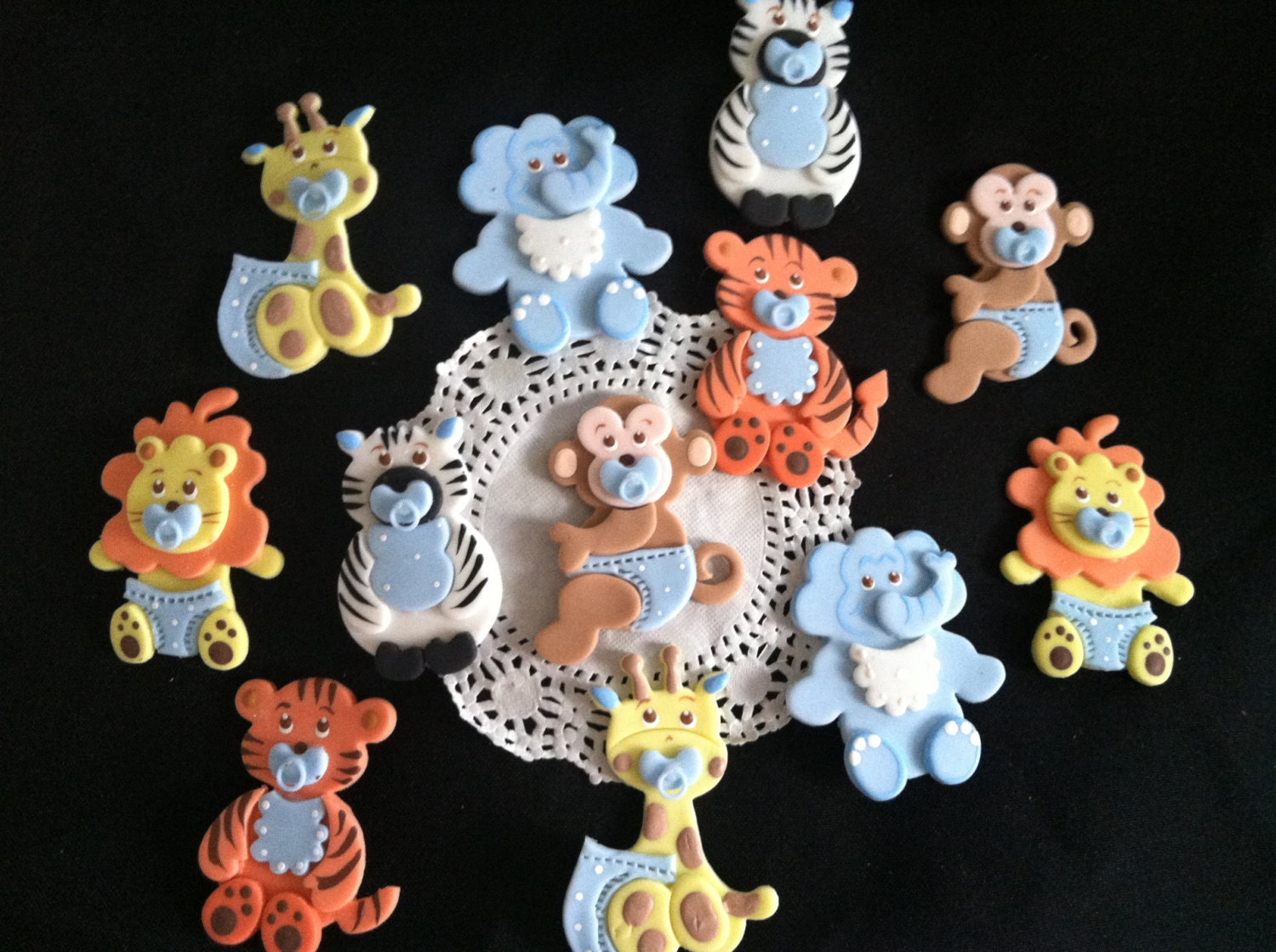 Jungle Cake Toppers. Fun Express 12 Count Vinyl Zoo Animal ...