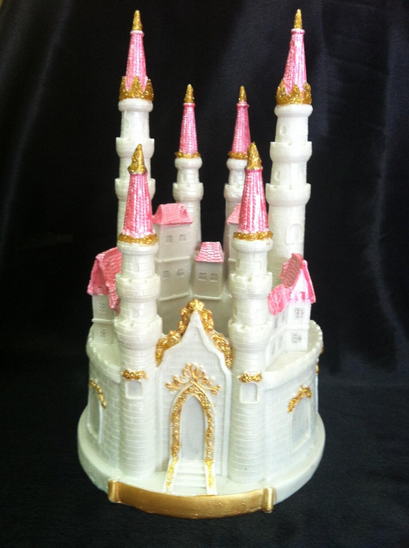 pink castle cake topper princess first birthday blue castle centerpiece princess birthday. Black Bedroom Furniture Sets. Home Design Ideas