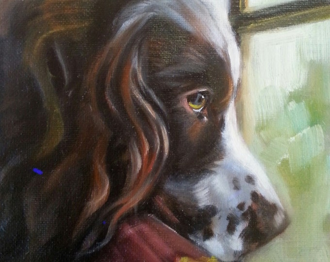 Custom 6x6 dog painting from your photograph