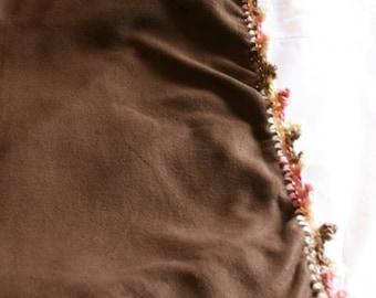 Neapolitan Fleece Lap Blanket - Decorative Crochet Edging
