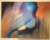 "Galaxy Painting - Original Abstract Painting - 'Rescue' - 40"" x 30"" Abstract Acrylic Painting - Large Painting"