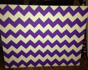 Chevron canvas wall-art