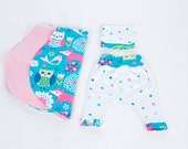 Baby Born Combo Gift Adorable Organic 100% Cotton Myfunnyclothes Kids Baby Blanket Hat Harem pants Combo