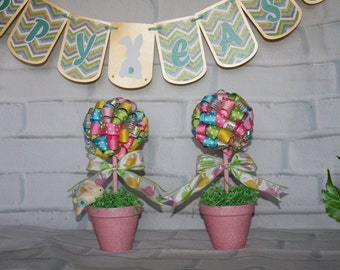 Easter topiary- Party Easter topiary- Ribbon topiary