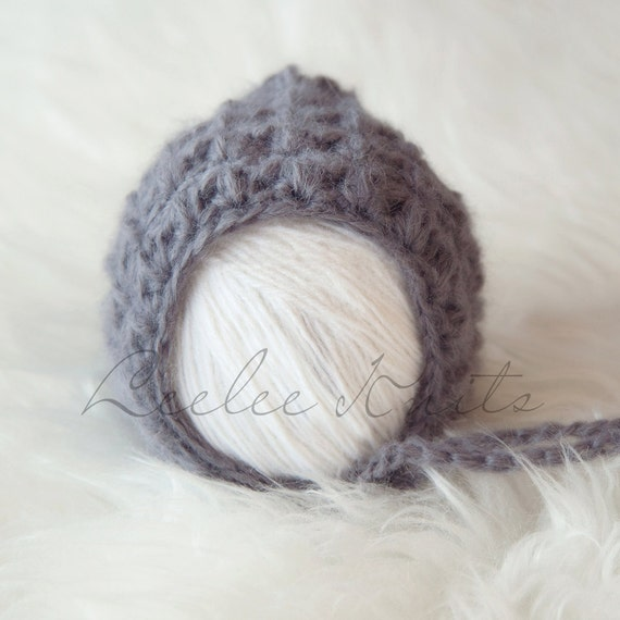 Pattern - Soft and Snuggly Newborn Crochet Bonnet Pattern
