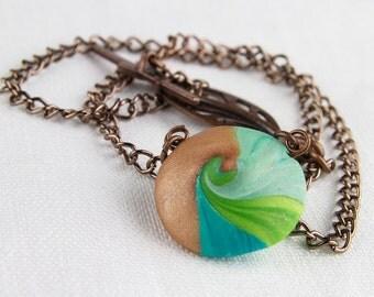 Simple lentil bead necklace