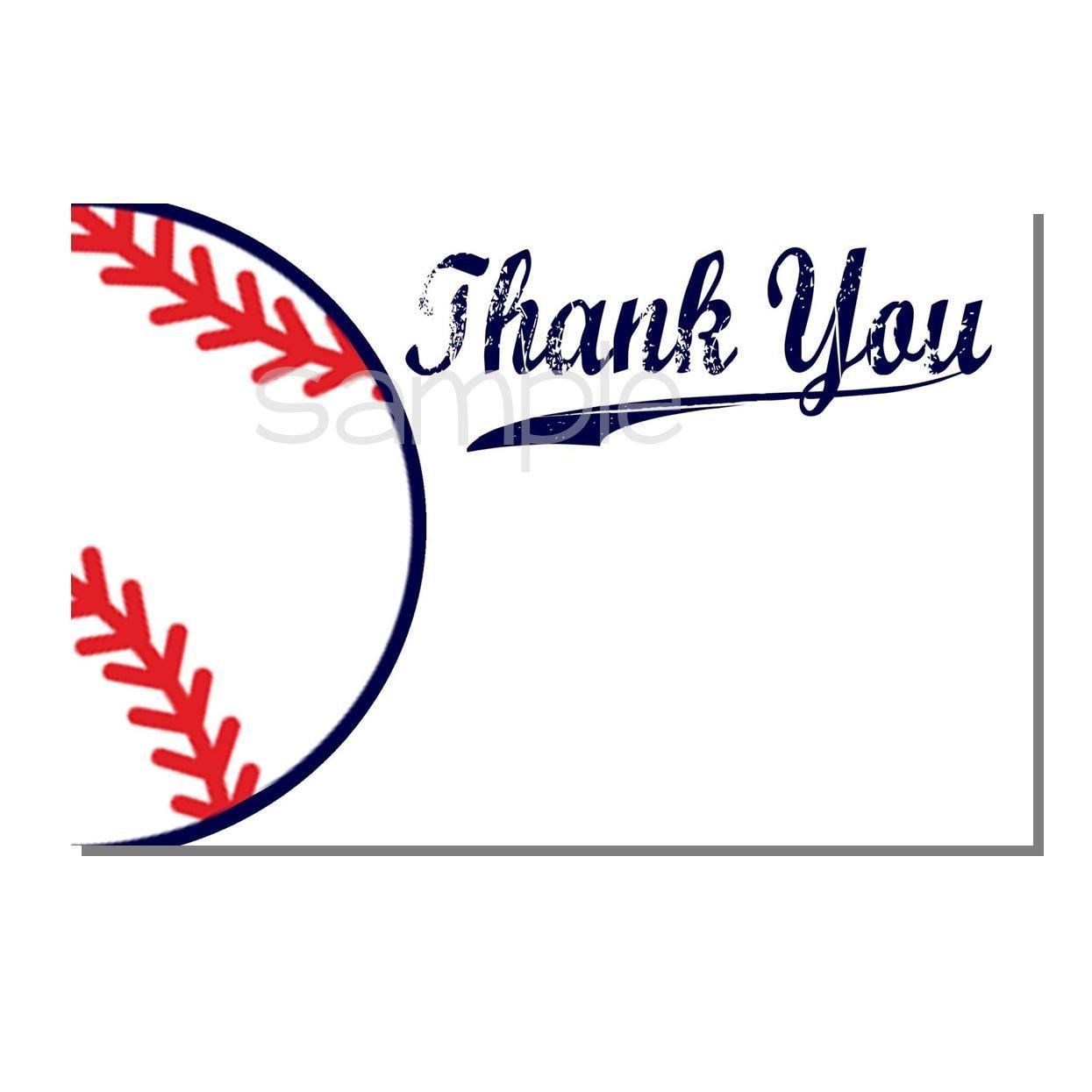 Baseball Thank You Card Baby Shower DIGITAL or PRINT