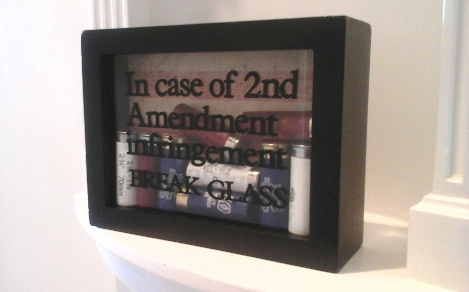 Man Cave Father S Day Gifts : Bullet frame shadow box free shipping nd amendment gun