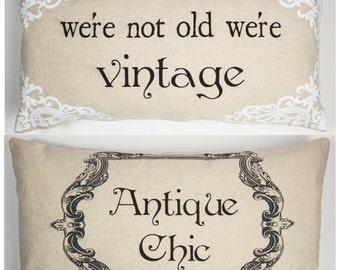 gift for grandma,senior citizen gift,senior citizen birthday,shabby chic bedding,linen pillow,vintage quotes,antique signs,mom birthday