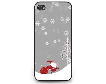 Santa Christmas Phone Case - Santa iPhone 6 Phone Case - Snow Santa iPhone 5c Phone Case for iPhone 4s Christmas Santa iPhone 5s