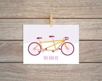 Illustrated Bike Love Card