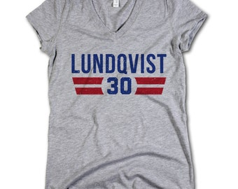 Henrik Lundqvist NHLPA Officially Licensed New York Womens V-Neck S-2XL  Henrik Lundqvist Font B