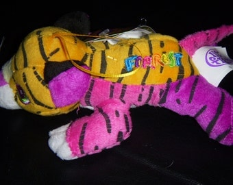 Lisa Frank holiday Forrest Tiger stuffed ornament collector plush