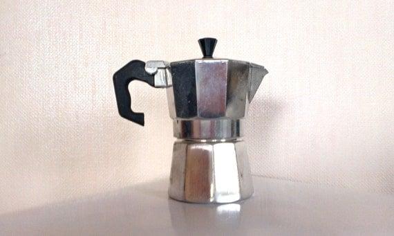 Italian Coffee Maker Aluminum : Vintage Italian Expresso coffee maker Aluminum by NGvintagelove