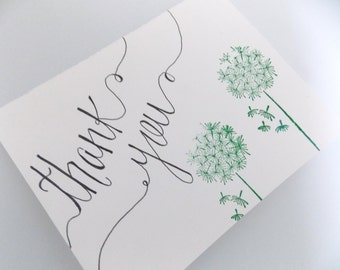 Thank You Card - Dandelion Thank you Card - Generic Thank You Card - Thank You Card Pack - Set of Thank You Cards