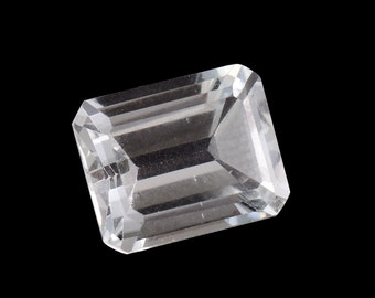 White Topaz Octagon Cut Loose Gemstone 1A Quality 10x8mm TGW 3.65 cts.