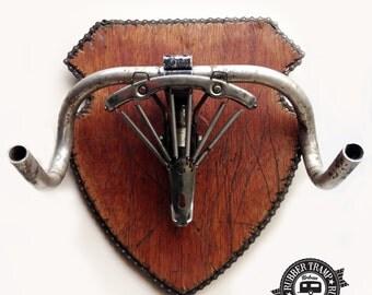 Vegan Taxidermy - Bicycle Rams Head - Trophy Wall Hanging