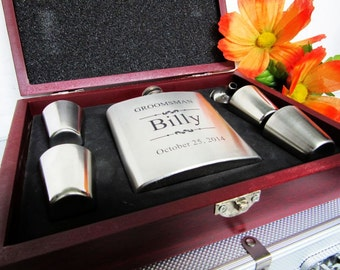 Groomsmen Gift Set - Groomsman Gift Set - Wedding Gift Set - Best Man Gift Set - Groomsmen Flask Set