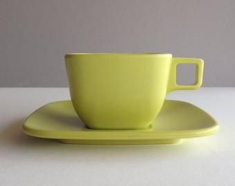 Arrowhead Brookpark Melamine Cup and Saucer - Chartreuse