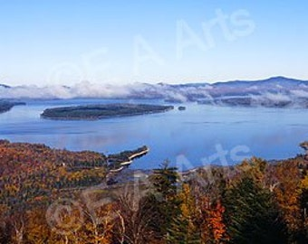 Rangeley Maine Height of Land Mooselookmeguntic Lake MADE IN USA Maine Photographer Paul Vose Maine Color Art Print