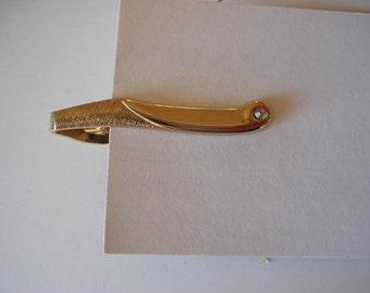 1960s Gold Art Deco Tie Bar