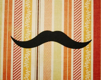 4'' MUSTACHE party prop / 25, 50 or 100pcs / Photo booth moustaches/ Little man / Mustache die cuts / Photo prop / Mustache party