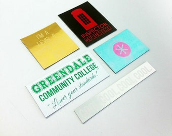 Set of 5 magnets inspired by the TV show Community