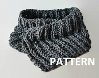 Knit Scarf Pattern Eternity Scarf Knitting Pattern Knitting Scarves Pattern